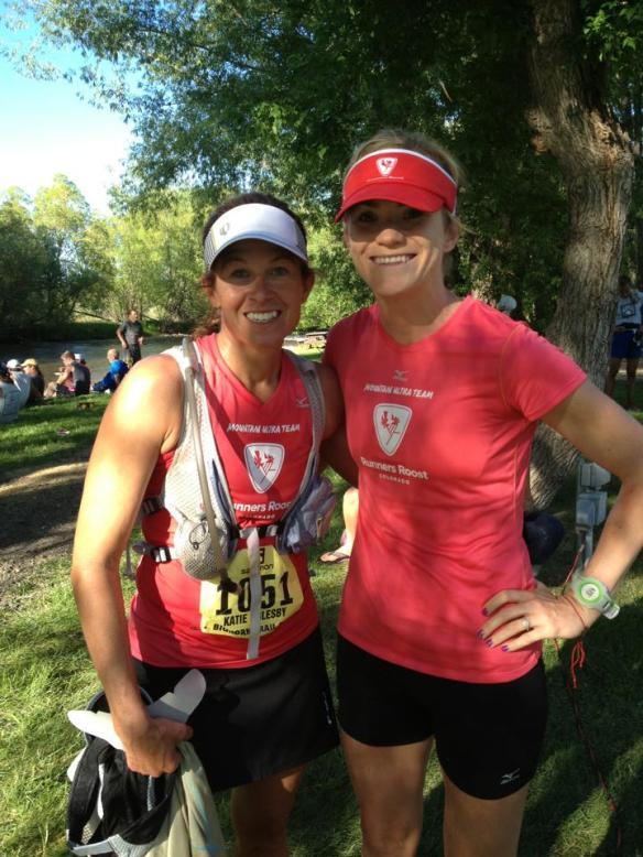 Me and Courtney at the finish. Photo by Courtney.